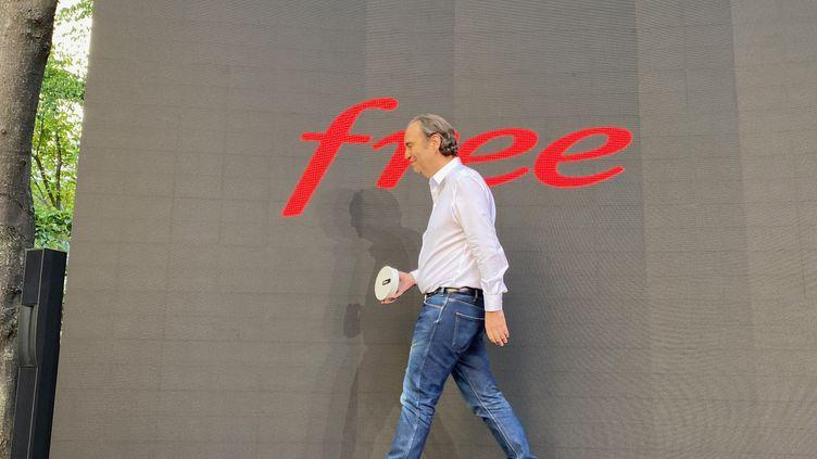 Xavier Niel, le 7 juillet 2020, lors de la présentation de la Freebox Pop, au siège de la société (JC/RF)