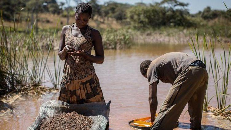 Extraction artisanale de cobalt en République démocratique du Congo. (FEDERICO SCOPPA / AFP)