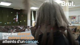VIDEO. Elles se font couper les cheveux pour les donner aux enfants atteints d'un cancer (BRUT)