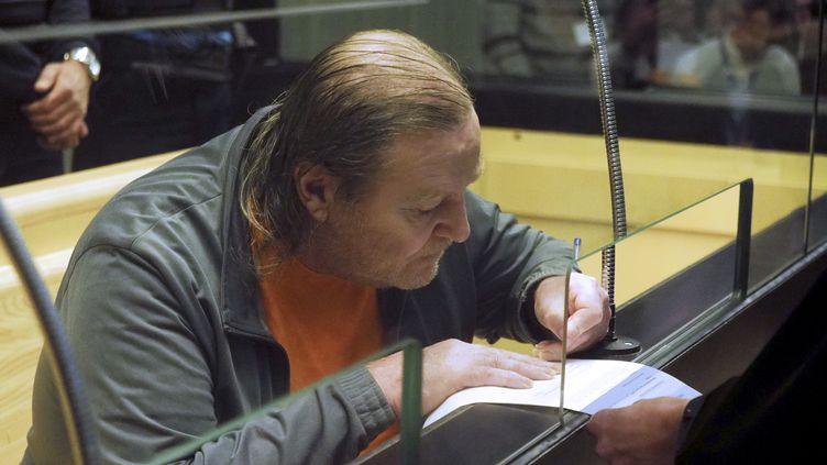Jacques Rançon, lors de son procès devant les assises des Pyrénées-Orientales, le 5 mars 2018. (RAYMOND ROIG / AFP)