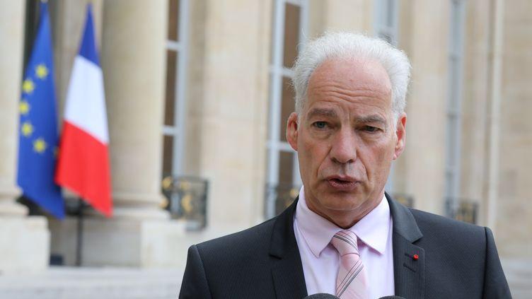 Le président de l'Union des entreprises de proximité, à l'Élysée, le 12 octobre 2017. (LUDOVIC MARIN / AFP)
