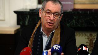 Le père d'Estelle Mouzin lors d'une conférence de presse à Paris, le 9 janvier 2018. (PATRICK KOVARIK / AFP)