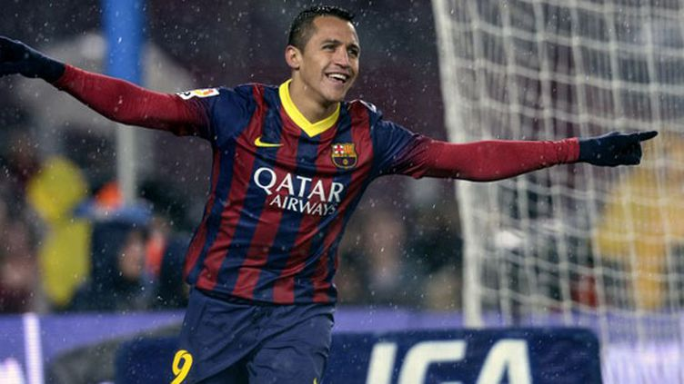 Le joueur du FC Barcelone, Alexis Sanchez