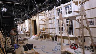 """Les studios de la série """"Demain nous appartient"""" (TF1), à Sète le 12 mai 2017 (ALEX BAILLAUD / MAXPPP)"""