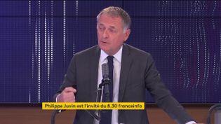 Philippe Juvin, candidat à l'élection présidentielle, maire LR de La Garenne-Colombesetchef des urgences de l'hôpital Pompidou, invité de franceinfo. (FRANCEINFO / RADIOFRANCE)