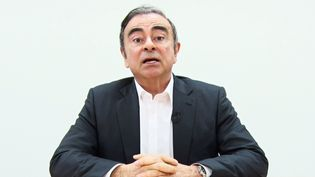 Extrait de la vidéo enregistrée par Carlos Ghosn et diffusée par ses avocats le 9 avril 2014 lors d'une conférence de presse à Tokyo (Japon). (REPRESENTATIVES FOR CARLOS GHOSN / AFP)