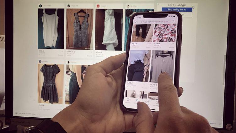 L'application Vinted permet de vendre ou d'acheter des vêtements d'occasion. (FRANTZ BOUTON / MAXPPP)