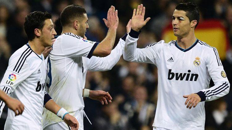 La joie des joueurs du Real Madrid (JAVIER SORIANO / AFP)
