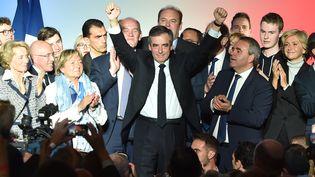 Le candidat des Républicains, François Fillon, lors d'un meeting à Lille, le 18 avril 2017. (PHILIPPE HUGUEN / AFP)