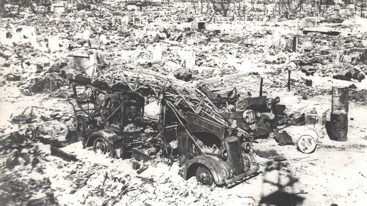 Hiroshimaquelques jours après l'explosion de la bombe atomique le 6 août 1945. (KEYSTONE PICTURES USA / ZUMAPRESS / MAXPPP)
