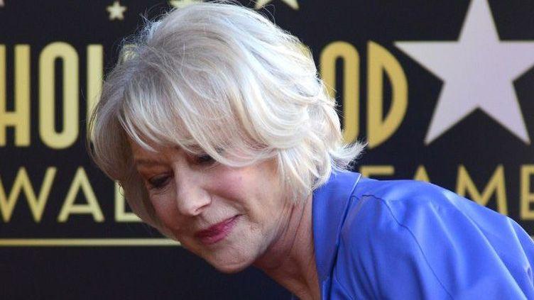 Helen Mirren a reçu son étoile sur le Hollywood Walk of Fame (3 janvier 2013)  (Joe Klamar / AFP)