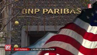 BNP Paribas devrait écoper d'une amende record de 6,4 milliards d'euros. ( FRANCE 2)
