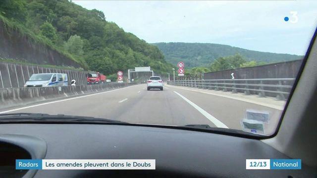 Radars tronçons : des centaines d'amendes dans le Doubs