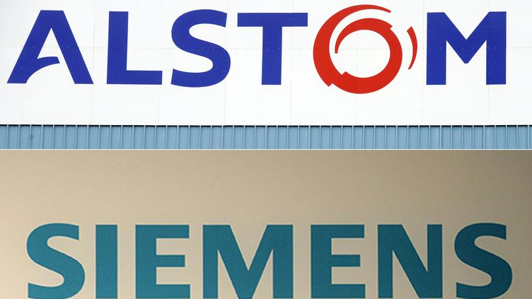 L'alliance entre les branches ferroviaires de Siemens et Alstom a été signée, mardi 26 septembre 2017. (SEBASTIEN BOZON / AFP)
