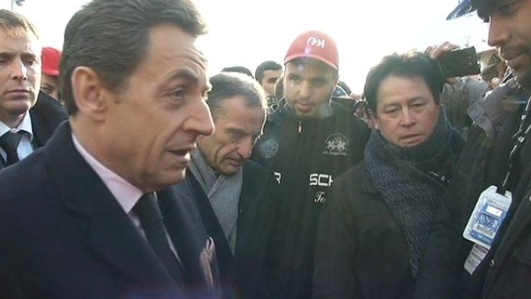 N.Sarkozy sur le site de Fessenheim le 9 février 2012 (FTV)