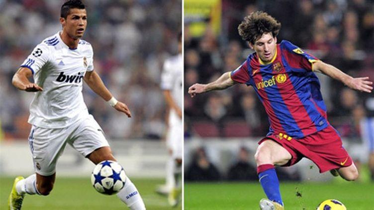 Cristiano Ronaldo et Lionel Messi, les deux stars du Clasico