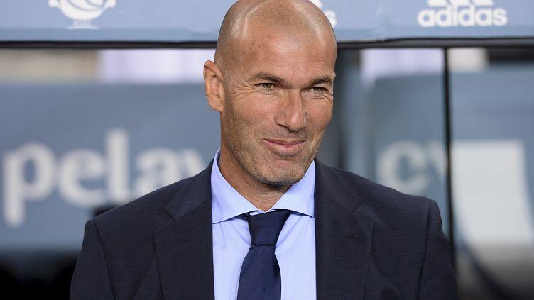 L'entraîneur du Real Madrid, Zinédine Zidane. (JOSEP LAGO / AFP)