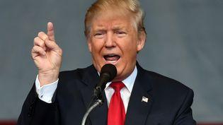 Le candidat républicain à la présidentielle américaineDonald Trump, le 5 octobre 2016 à Henderson, dans le Nevada. (ETHAN MILLER / GETTY IMAGES NORTH AMERICA / AFP)