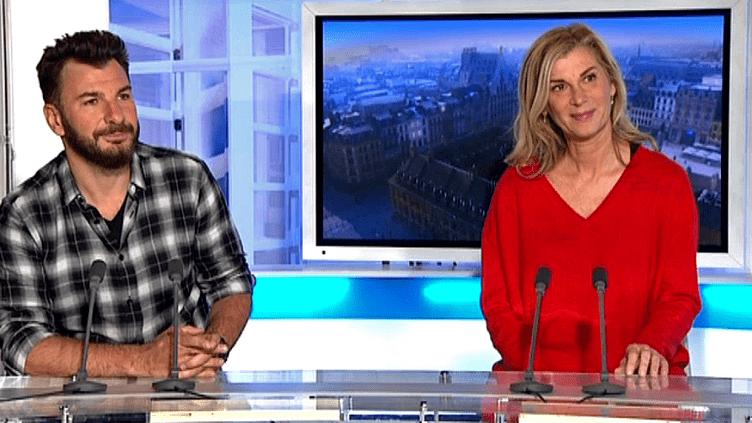 """Michael Youn et Michèle Laroque en promotion pour """"Le Fantôme de Canterville""""  (France3/Culturebox)"""