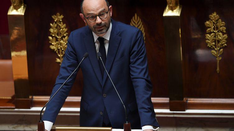 Edouard Philippe, lors de son discours de politique générale à l'Assemblée nationale, le 4 juillet 2017. (CHRISTOPHE ARCHAMBAULT / AFP)