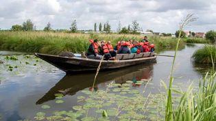 Dans les faubourgs de Saint-Omer, depuis Saint-Martin-lez-Tatinghem, on peut voguer sur les eaux calmes du marais Audomarois qui s'étend sur 3700 hectares. (OFFICE DE TOURISME DU PAS-DE-CALAIS)