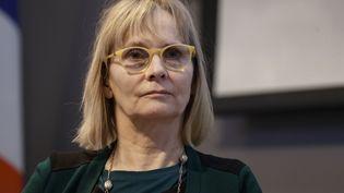 Françoise Brié, directrice de la Fédération Solidarité femmes, à Paris, le 5 mars 2018. (THOMAS SAMSON / AFP)