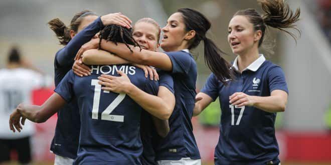 Les joueuses françaises de l'équipe de football