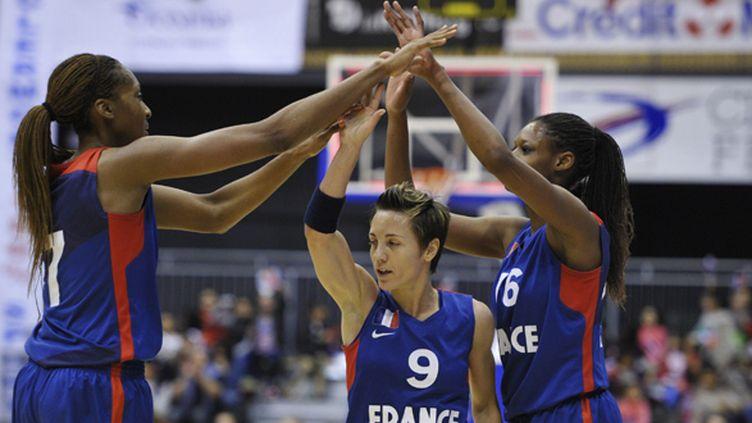 Sandrine Gruda, Céline Dumerc, et Valériane Ayayi sont prêtes à conquérir l'Europe (BRUNEL RICHARD / MAXPPP)