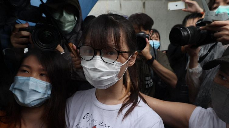 La militante pro-démocratie Agnes Chow, le 12 juin 2021, à Hong Kong (Chine). (EYEPRESS NEWS / AFP)