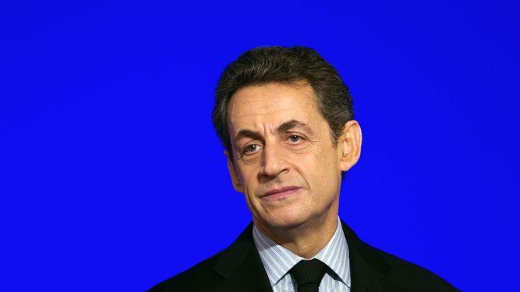 Nicolas Sarkozy, le 20 janvier 2012, à Paris. (CHARLES PLATIAU / POOL / AFP)