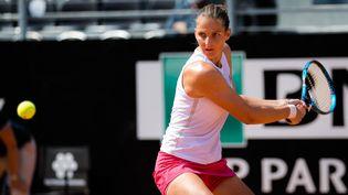 Karolina Pliskova lors du troisième tour de l'édition 2021 du tournoi de Rome. (ROB PRANGE / SPAIN DPPI)