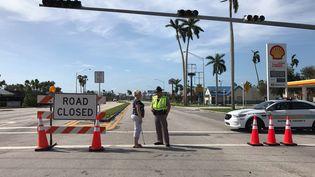 Homestead (Floride), le 11 septembre 2017. Au bout de la route, le pont qui permet d'accéderà l'archipel des Keys. (GREGORY PHILIPPS / RADIO FRANCE)