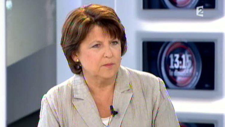 """Martine Aubry, Première secrétaire du PS, était l'invitée de """"13h15"""", dimanche 22 mai 2011, sur France 2. (AFP)"""