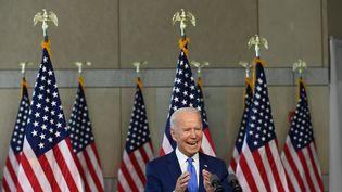 Le candidat démocrate à l'élection présidentielle, Joe Biden, le 20 septembre 2020 à Philadelphie (Etats-Unis). (ROBERTO SCHMIDT / AFP)