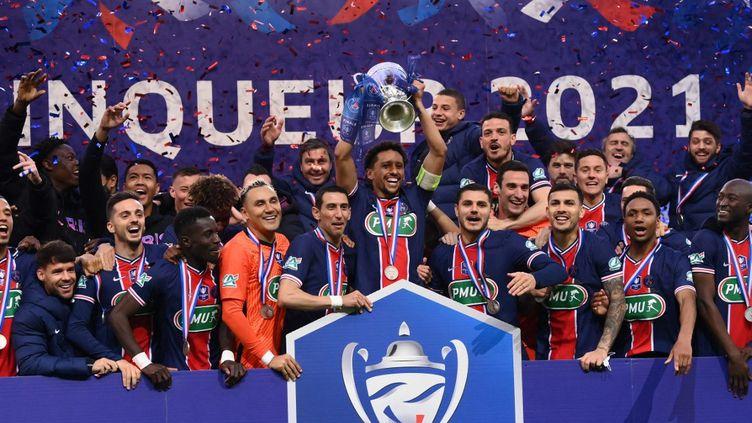 Le PSG garnit son armoire à trophées d'une quatorzième Coupe de France. (FRANCK FIFE / AFP)