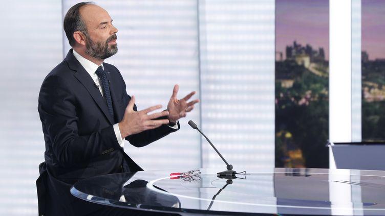 Le Premier ministre Edouard Philippe est l'invité de France 2, le 12 janvier 2020. (GEOFFROY VAN DER HASSELT / AFP)