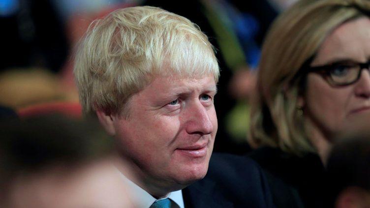 Le ministre des Affaires étrangères Boris Johnson lors d'une convention du parti conservateur, à Birmingham, le 5 octobre 2016. (LINDSEY PARNABY / ANADOLU AGENCY / AFP)