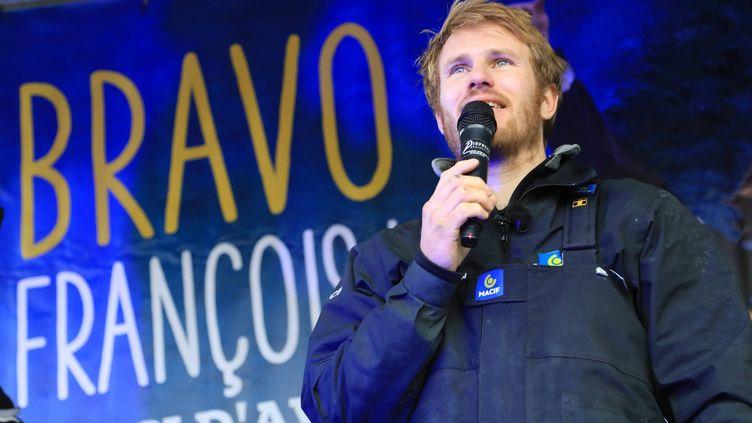 François Gabart à Brest (Finistère), le 17 décembre 2017. (MAXPPP)