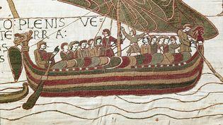 Détail de la Tapisserie de Bayeux ou broderie de la Reine Mathilde. (LUISA RICCIARINI / LEEMAGE)
