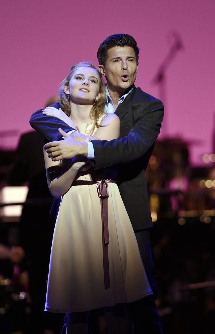 Marie Oppert et Vincent Niclo (Guy)  (Eric Feferberg/AFP)