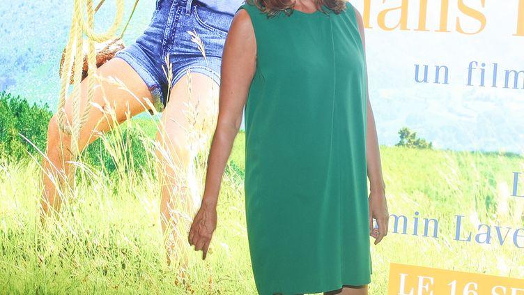 """La réalisatrice Caroline Vignal, lors de la présentation du film """"Antoinette dans les Cévènnes"""", à Paris, le 8 septembre 2020. (MOHAMMED BADRA / EPA)"""