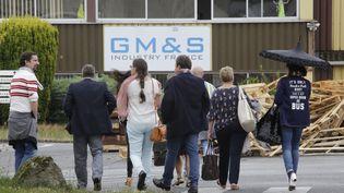 Le site de GM&S, dans la Creuse, avant une assemblée générale le 12 juillet 2017. (PASCAL LACHENAUD / AFP)