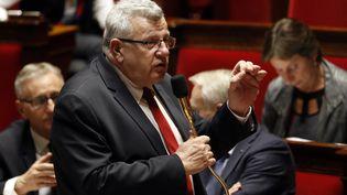 Christian Eckert lors d'une séance de questions au gouvernement à l'Assemblée nationale française à Paris, le 15 février 2017. (FRANCOIS GUILLOT / AFP)