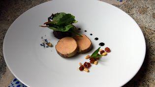 Une assiette de foie gras dans un restaurant gastronomique à Budapest, en Hongrie, le 23 janvier 2013. (MAXPPP)