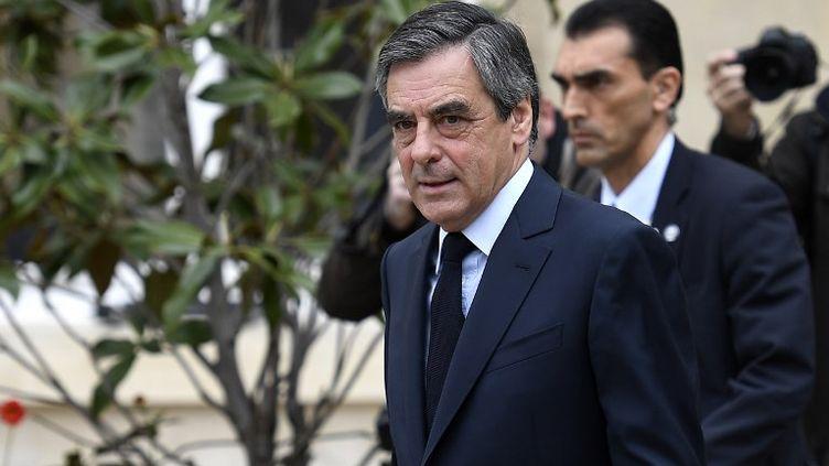 François Fillon, le 23 avril 2017, à Paris. (LIONEL BONAVENTURE / AFP)
