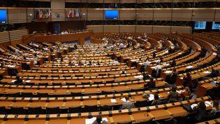 Hémicycle du parlement européen à Bruxelles. (MAXPPP)