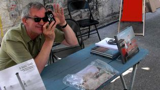 Martin Parr à Arles (9 juillet 2011)  (Ginies / SIPA)