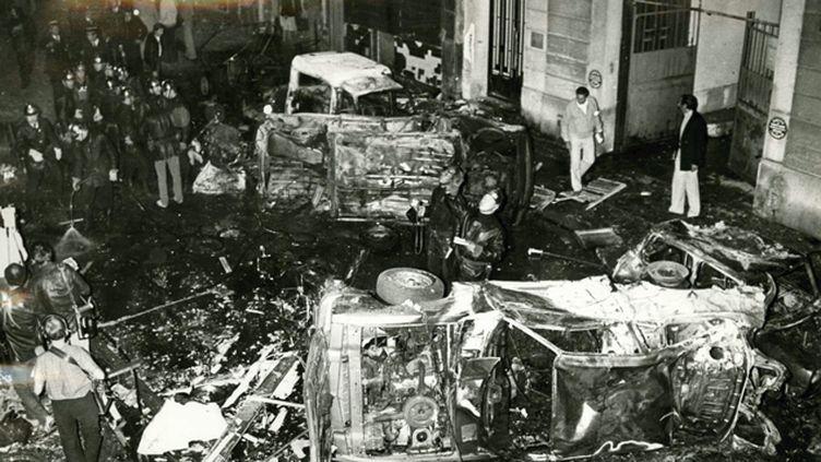 (L'attentat avait fait quatre morts et une quarantaine de blessés le 3 octobre 1980 rue Copernic à Paris © MaxPPP)
