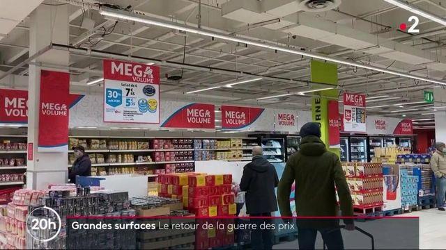Consommation : la guerre des prix fait son retour dans les grandes surfaces