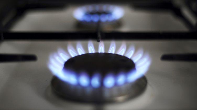 A Strasbourg, le brûleur d'une cuisinière de gaz, prise en photo le 22 juin 2010. (JOHANNA LEGUERRE / AFP)